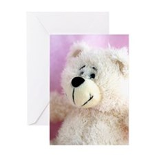 Baby Girl Bear Greeting Card