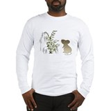 Cute Mouse and lily of the va Long Sleeve T-Shirt
