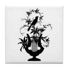 Lyre Bird Tile Coaster