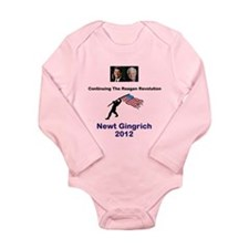 Newt Reagan Revolution Long Sleeve Infant Bodysuit