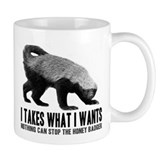 Honey Badger Speaks Small Mugs