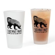 Honey Badger Speaks Drinking Glass