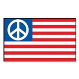 American Style Peace Flag Decal