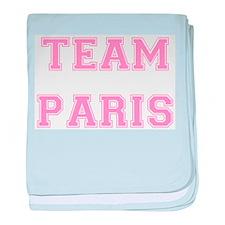 Team Paris Light Pink baby blanket
