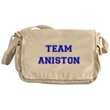 Team Aniston Blue Messenger Bag
