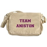 Team Aniston Purple Messenger Bag