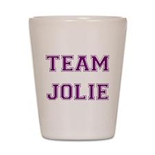 Team Jolie Purple Shot Glass