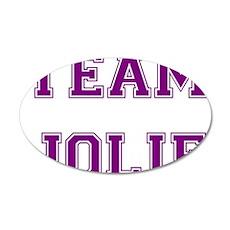 Team Jolie Purple 38.5 x 24.5 Oval Wall Peel