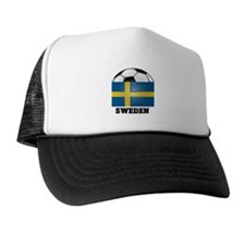 Sweden Soccer Trucker Hat