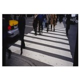 Group of people crossing at a zebra crossing, New