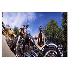 Motorcycle Riders and Harley Davidsons Milwaukee W