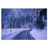 Winter Road near Inzel Bavaria Germany