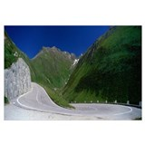 Winding Road Furkapass Switzerland