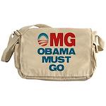OMG: Obama Must Go Messenger Bag
