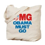 OMG: Obama Must Go Tote Bag