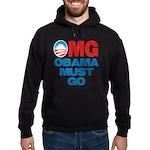 OMG: Obama Must Go Hoodie (dark)