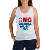 OMG: Obama Must Go Women's Tank Top
