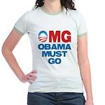 OMG: Obama Must Go Jr. Ringer T-Shirt