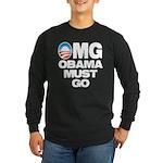 OMG: Obama Must Go Long Sleeve Dark T-Shirt