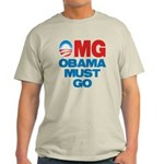 OMG: Obama Must Go Light T-Shirt
