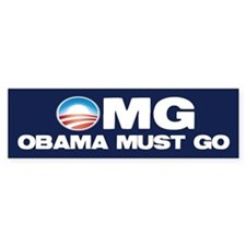 OMG: Obama Must Go Car Sticker