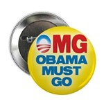"""OMG: Obama Must Go 2.25"""" Button (10 pack)"""