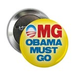 """OMG: Obama Must Go 2.25"""" Button"""