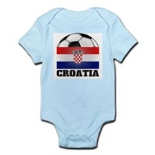 Croatia Soccer Infant Creeper