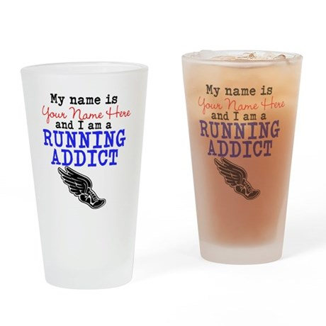 Running Addict Drinking Glass