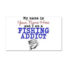 Fishing Addict Car Magnet 20 x 12