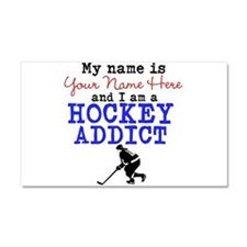 Hockey Addict Car Magnet 20 x 12