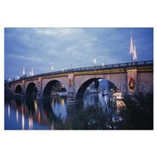 Arch bridge across a river, Lake Havasu, London Br