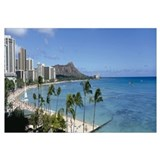 Buildings on the beach, Waikiki Beach, Honolulu, O