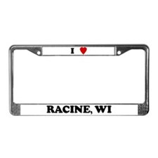 I Love Racine License Plate Frame