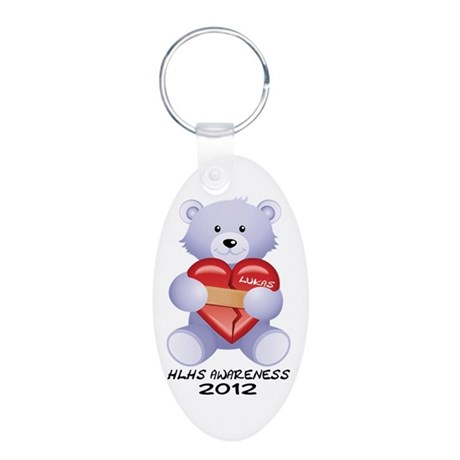 Lukas Teddy Aluminum Oval Keychain