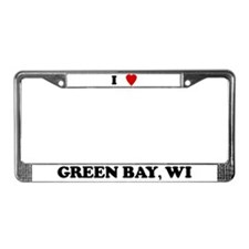 I Love Green Bay License Plate Frame