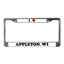 I Love Appleton License Plate Frame