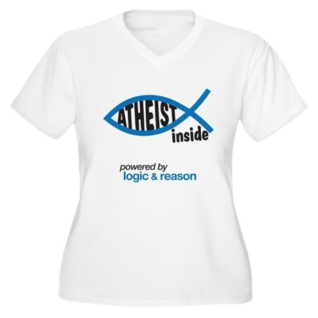 atheist inside Women's Plus Size V-Neck T-Shirt