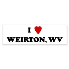 I Love Weirton Bumper Bumper Sticker