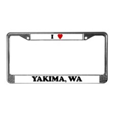 I Love Yakima License Plate Frame