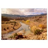 Rio Chama in autumn New Mexico