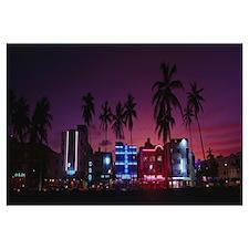 Florida, South Beach Miami, night