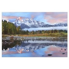 Grand Tetons reflected in lake Grand Teton Nationa