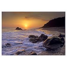 Sunset over Leo Carillo State Beach, Malibu, Calif