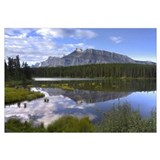Mount Rundle and boreal forest reflected in Johnso