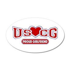 USCG Girlfriend 38.5 x 24.5 Oval Wall Peel