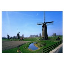 Windmills near Alkmaar Holland (Netherlands)