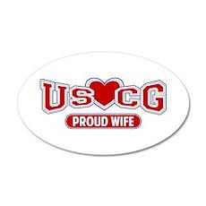 USCG Wife 22x14 Oval Wall Peel