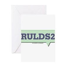 RULDS2 - Are You LDS Too Text Greeting Card