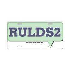 RULDS2 - Are You LDS Too Text Aluminum License Pla